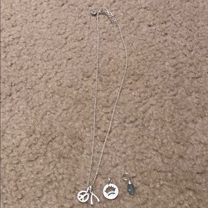 Stella & Dot Sterling Silver Delicate Necklace